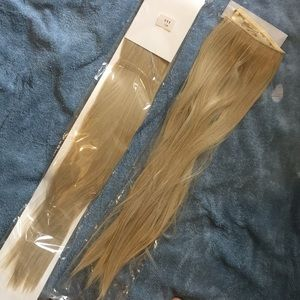 Two blonde hair extensions, one new in package! 😍